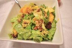 Harvest Salad with Pecans, Romaine, Apple, Squash, Cranberries, and Quinoa