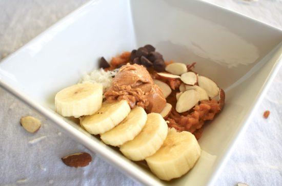 Breakfast Mashed Sweet Potato Bowl
