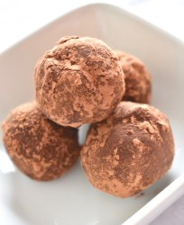 Vegan Mexican Hot Chocolate Truffles