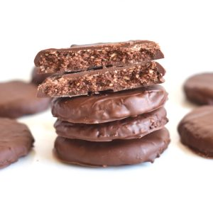 Copycat Thin Mint Cookies, Vegan, GF, DF, Inside shot