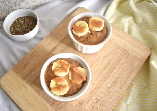 easy banana peanut butter oatmeal