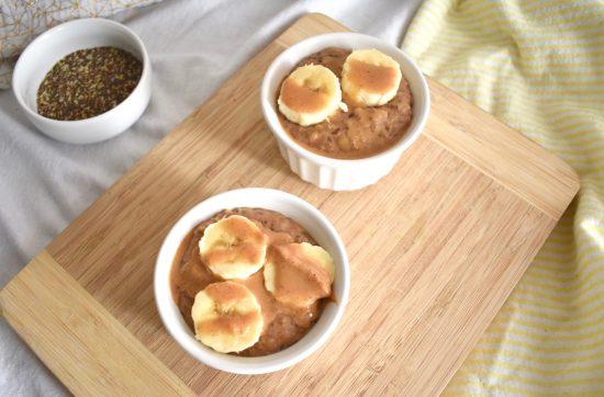 easy banana peanut butter oatmeal