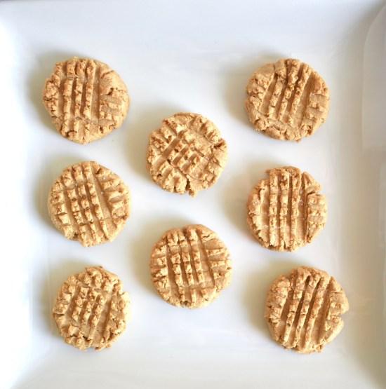 vegan peanut butter cookies, easy 4 ingredient
