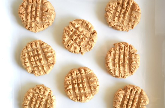vegan peanut butter cookies, easy 4 ingredient
