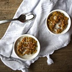 5 minute pumpkin pie oatmeal