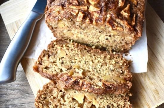 easy vegan apple cinnamon bread