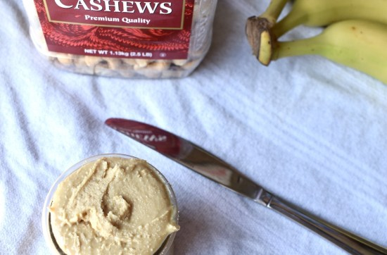 homemade one ingredient cashew butter
