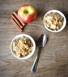 vegan apple pie microwave oats
