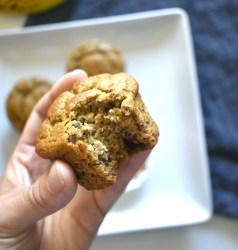 easy vegan chocolate chip banana muffins