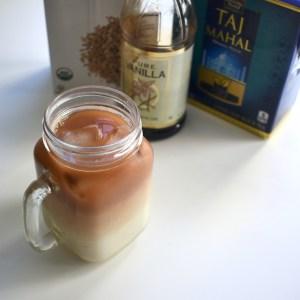 Iced Vanilla Oatmilk Latte with Tea