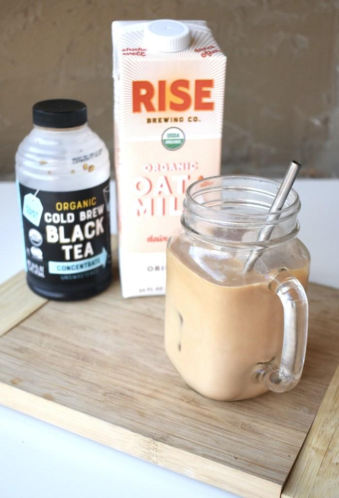 oatmilk latte with black tea
