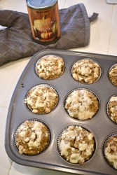 Vegan Pumpkin Muffins with almond meal crumble