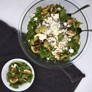 fig arugula salad with feta