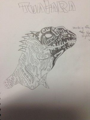 Initial Tuatara sketch