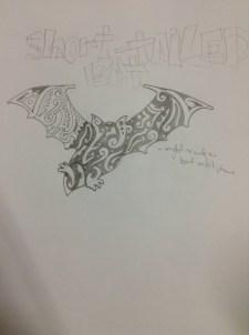 Short-tailed bat initial drawing