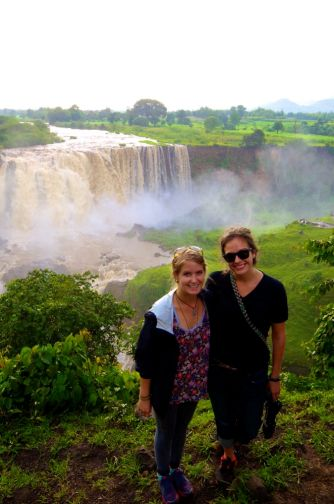 Nikki and I at Blue Nile Falls