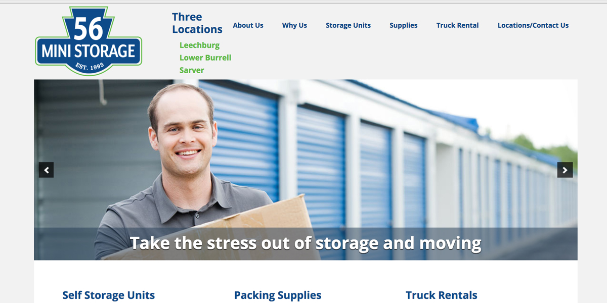 56 Mini Storage Refreshed Brand, Refocused Web Presence