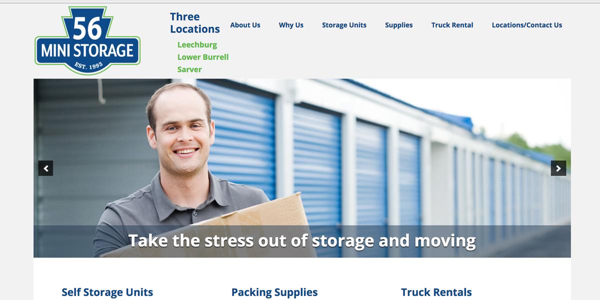 56 Mini Storage: Refreshed brand, refocused web presence