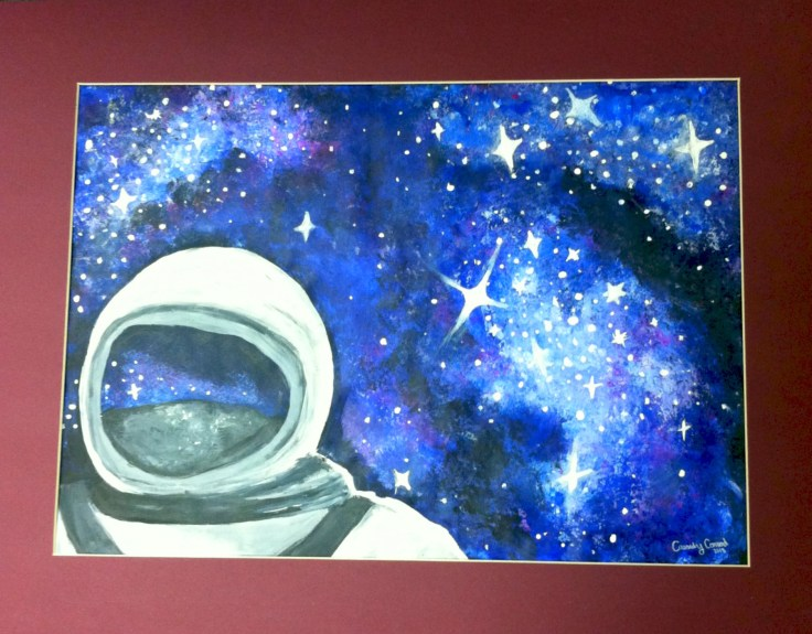 """Acrylic Paint- """"Spaced Out"""""""