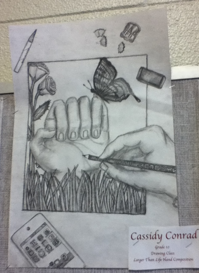 Charcoal Pencil-Hand Composition
