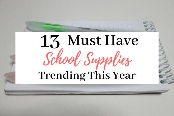 Must Have School Supplies   13 Trendiest School Supplies to Use This School Year