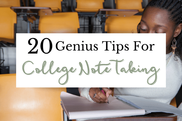 College Note Taking Tips | How to Take Notes from a College Senior