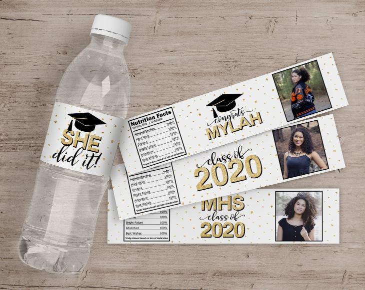 graduation party decorations water bottle labels