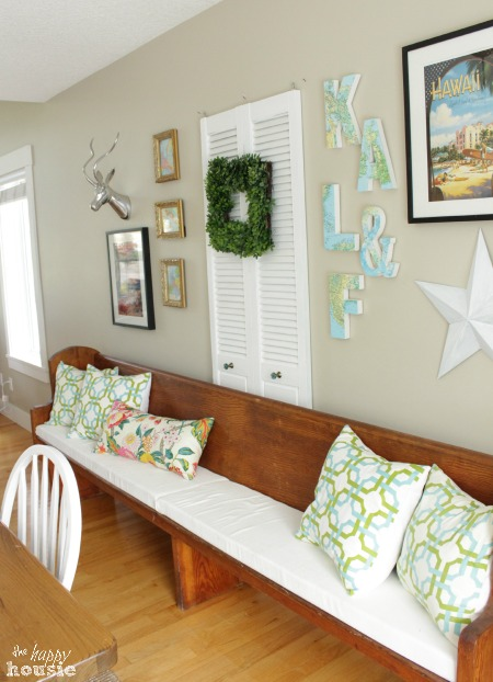 The Happy Housie Home Tour for Primitive and Proper Dining Room Pew