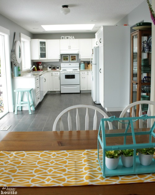 The Happy Housie Home Tour for Primitive and Proper Dining Room to Kitchen
