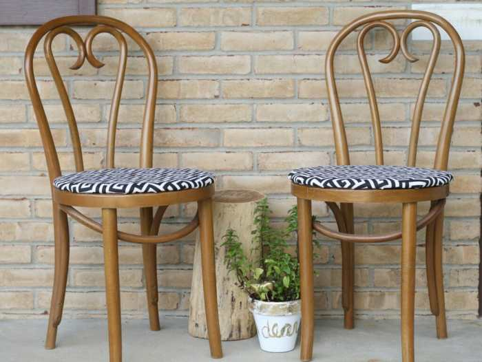 how to replace cane seats with new upholstered seats