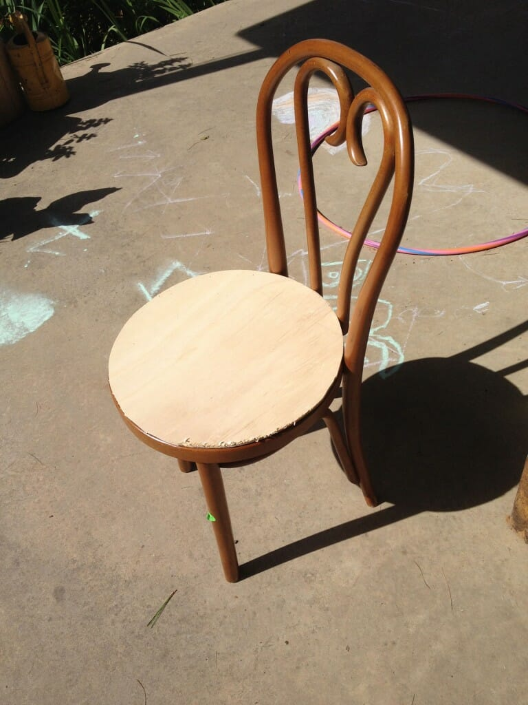 how to create a new seat for a caned chair