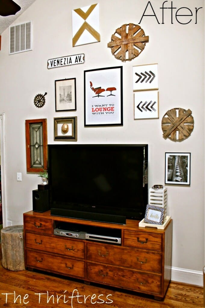 Family Room Gallery Wall After