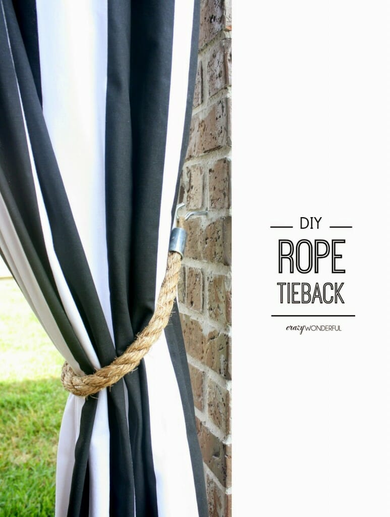 DIY rope tieback tutorial