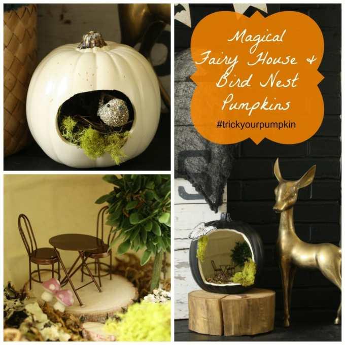 fairy house pumpkin and bird house pumpkin #trickyourpumpkin
