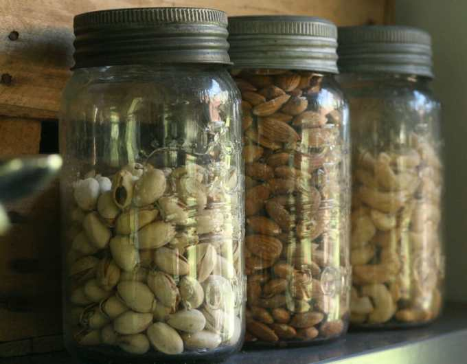 vintage jars for dry goods storage
