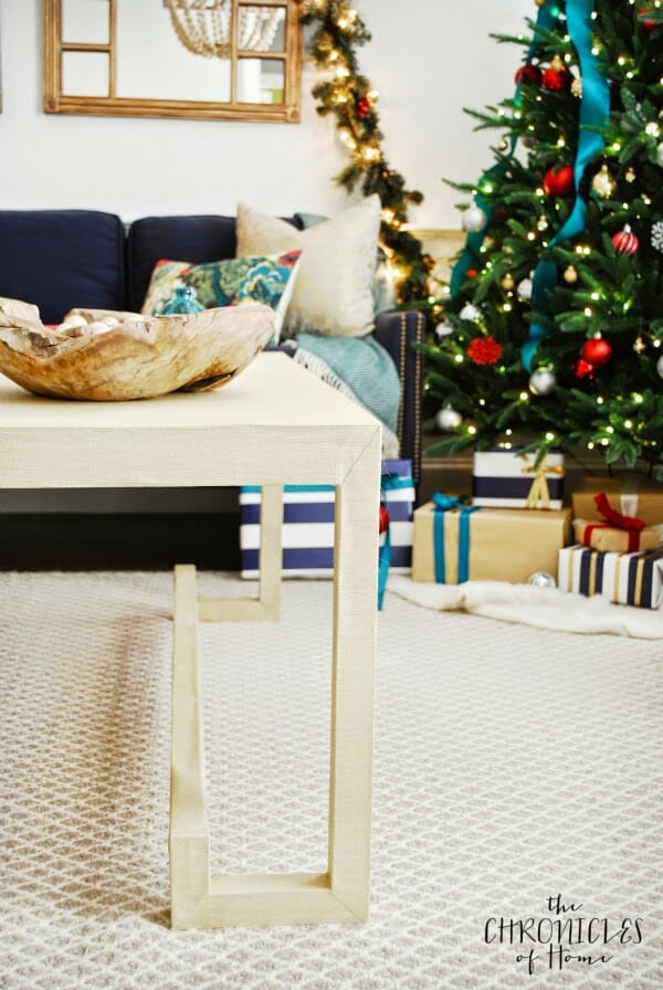 how to make a lacquered grasscloth coffee table 3