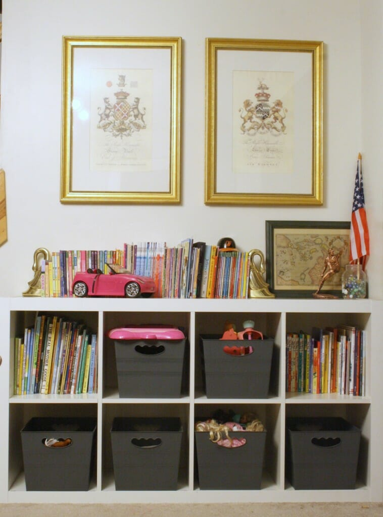 expedit storage in playroom