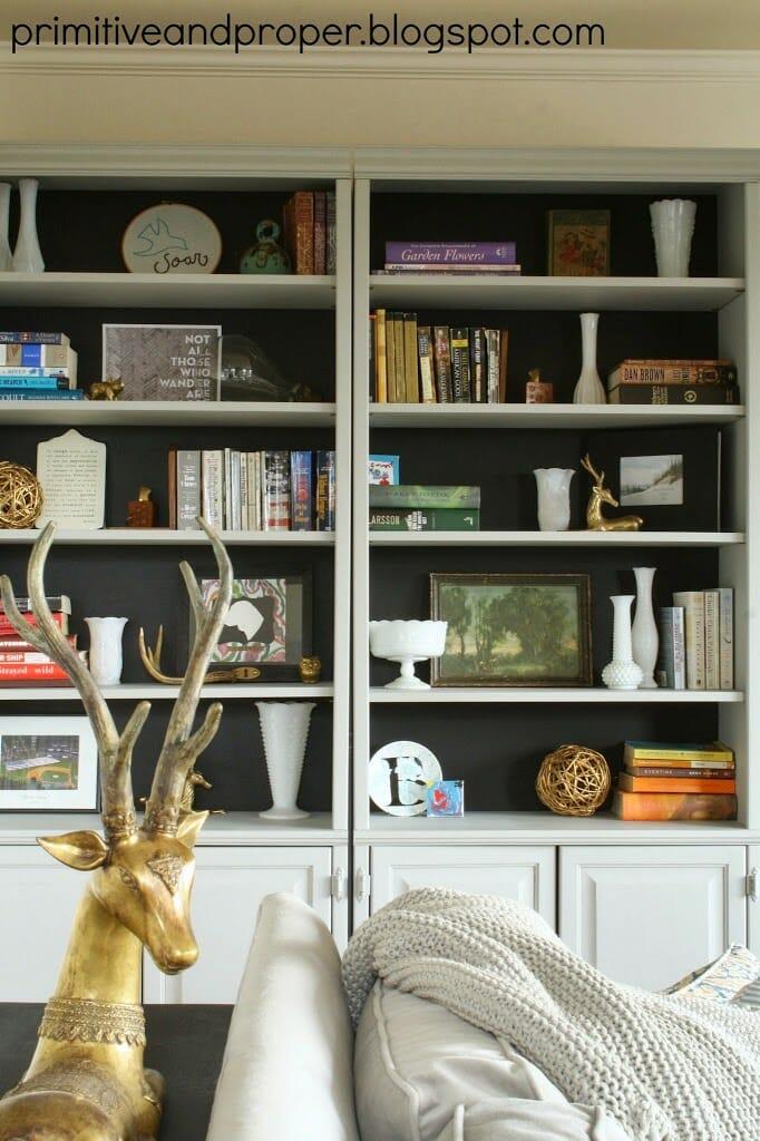 bookcase in black