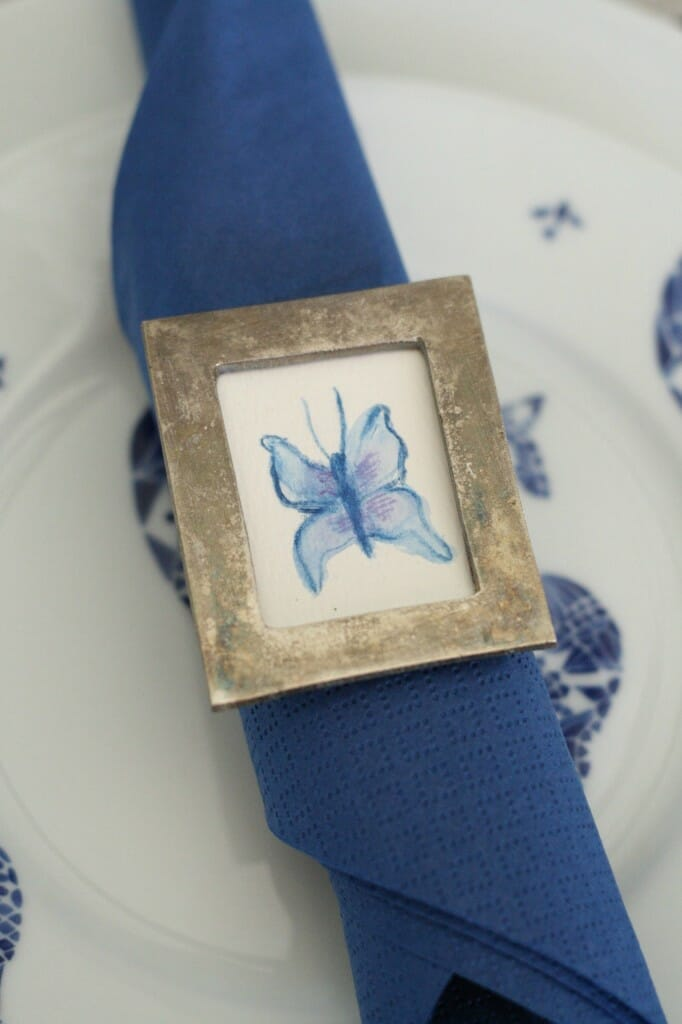 watercolor butterfly napkin ring