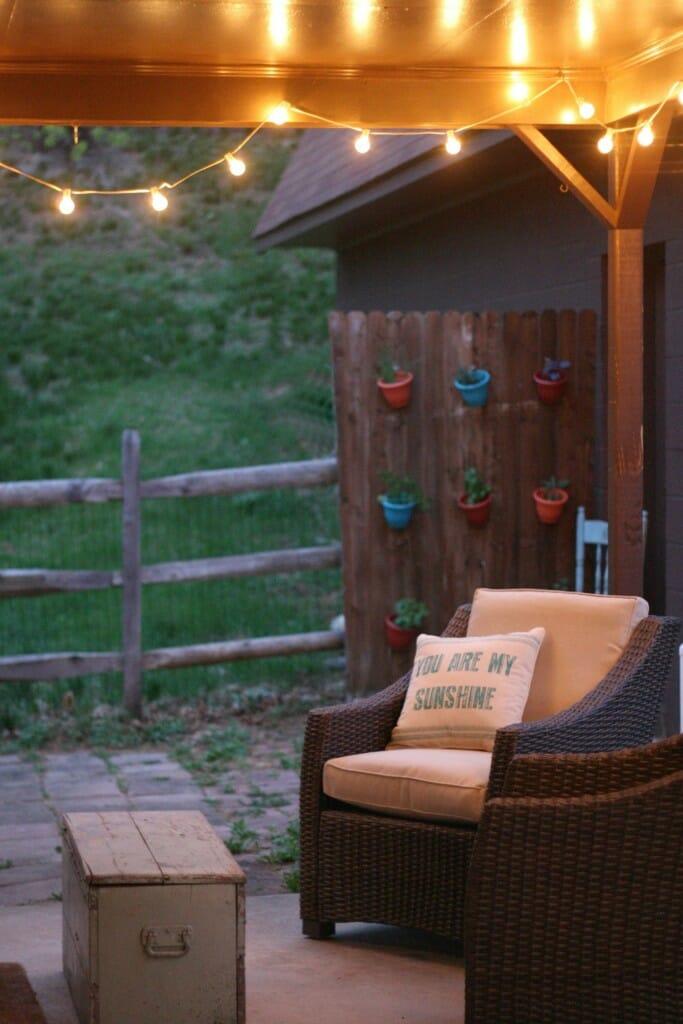 vertical herb garden porch.