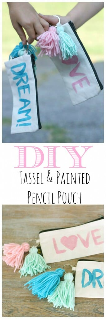 DIY Tassel & Painted Pencil Pouch