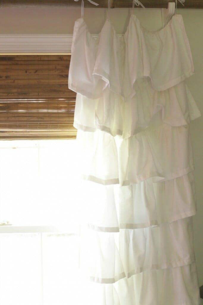 Custom Bamboo Blinds & Ruffled Curtains