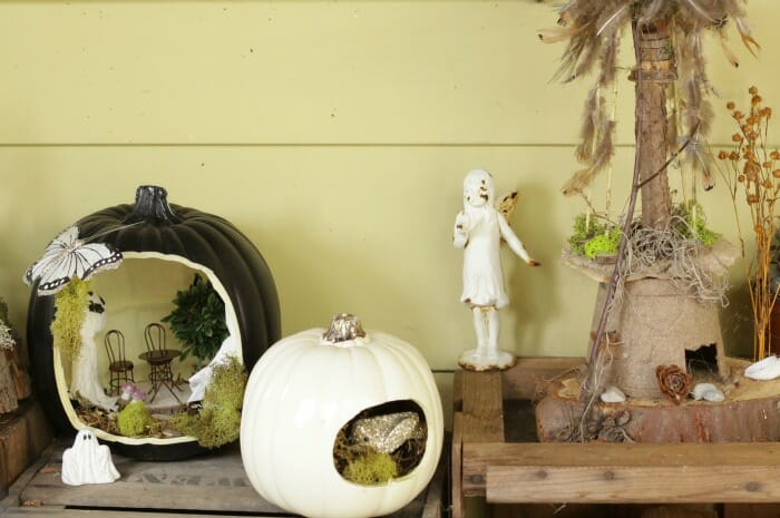 Halloween Pumpkin Fairy Houses
