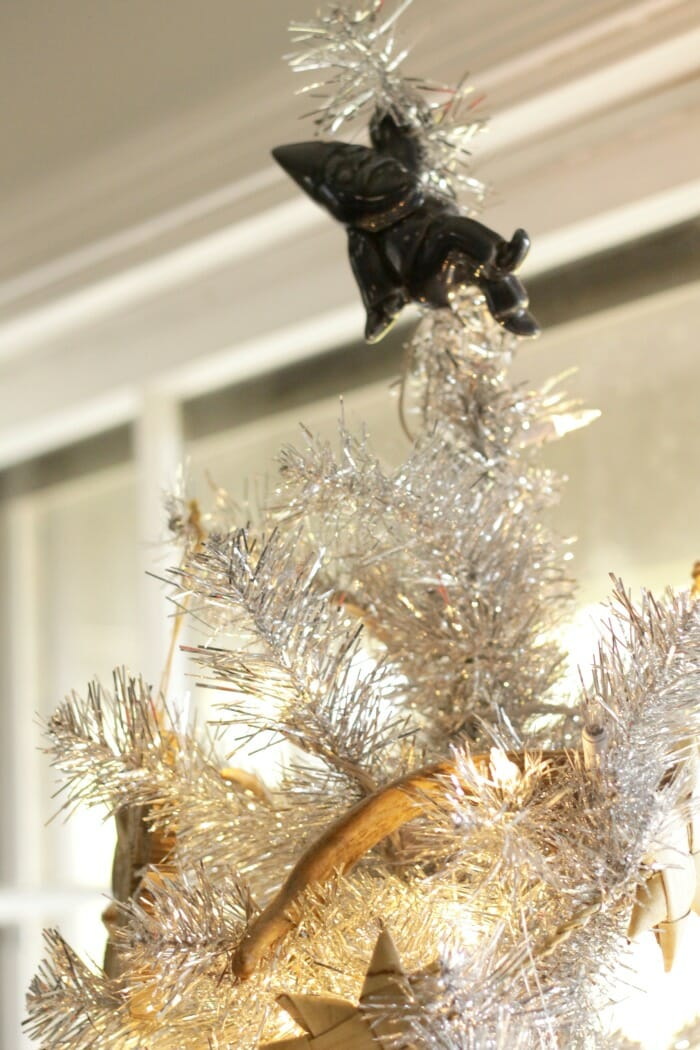 Gnome as tree topper.
