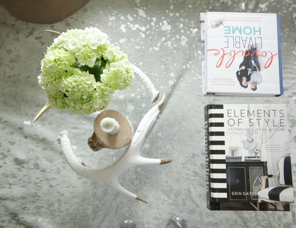 Coffee table styling- Spring