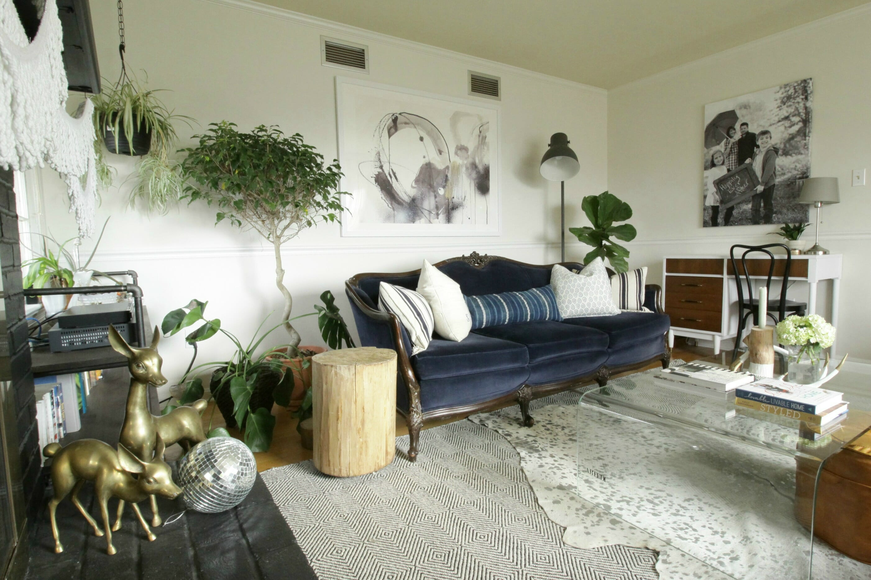 Living Room Large Scale Modern Art From Minted Boho Eclectic