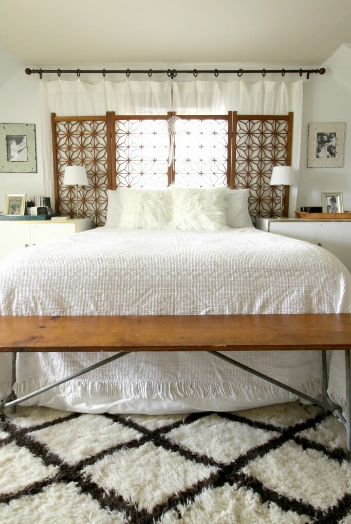 Boho Modern White and Wood Master Bedroom (and Getting a ... on Boho Modern Bedroom  id=38426