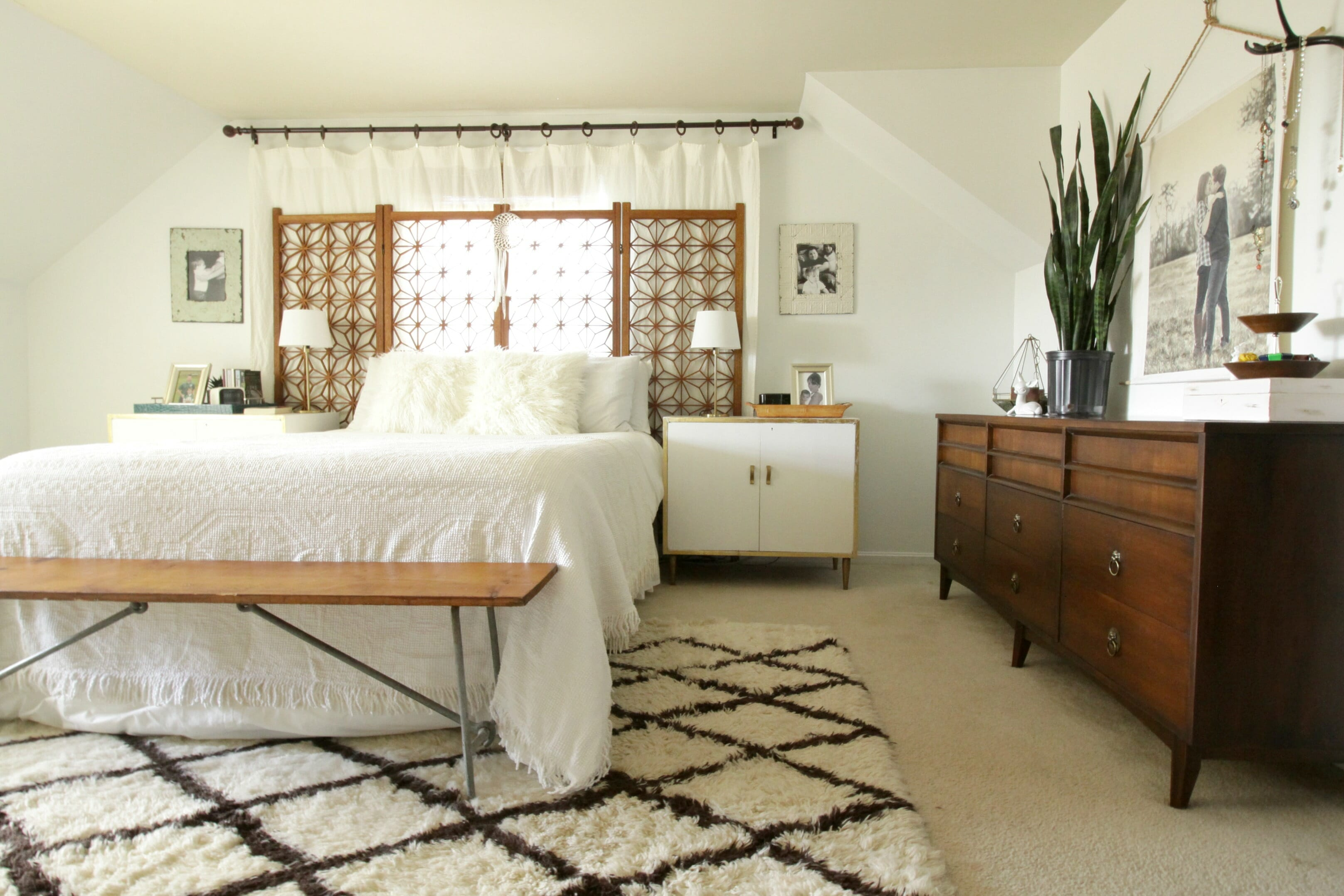 Boho Modern White and Wood Master Bedroom (and Getting a ... on Boho Modern Bedroom  id=51150