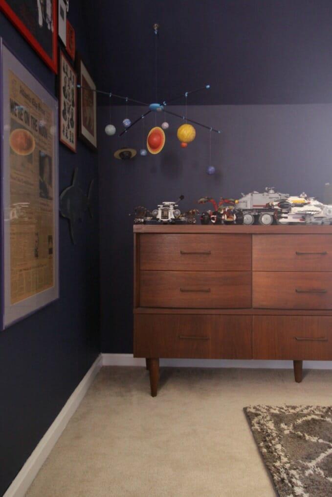 Midcentury Dresser in Tween Bedroom