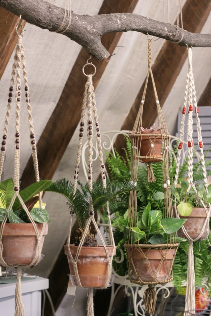 Macrame Display on Branch by The Mill- at Sweet Clover